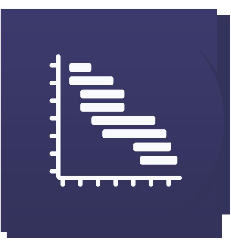 Icoon van een Gannt chart